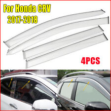 4PC Car Window Visors Weather Shields Weathershield For Honda CRV CR-V 2017-2018