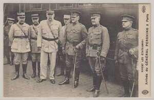 B2780 : 1910's France Général Pershing Ww I Carte Postale
