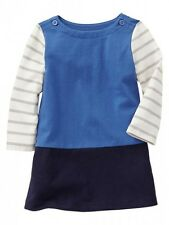GAP Baby Girl NWT Size 6-12 Months NWT Nautical Blue / White Colorblock Dress