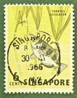 100 x Briefmarke Malaisia Singapore  1962 Fisch