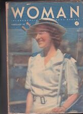 Woman Magazine February 19 1945 Nicely Dressed Woman cover