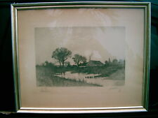 """LOUISE HOWLAND KING COX """"THE HARVEST MOON""""  PRINT  21"""" x 17"""" IN FRAME NO GLASS"""
