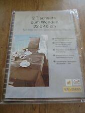 Sun Garden 2 Tischsets zum Wenden 32x48 cm für den Innen-und Außenbereich Braun