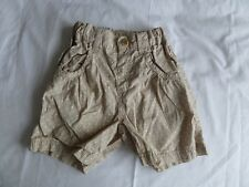 H&M Girls Pale Brown 100% Cotton Polka Dot Short Pants Size 5-6 Years