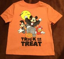 MICKEY MOUSE FRIENDS HALLOWEEN TRICK OR TREAT OLD NAVY 12-18 MO T SHIRT Disney
