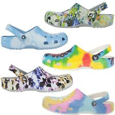 CROCS Tie- Dye Classic LIMITED EDITION COLORS LightWeight Comfort Shoes Womens