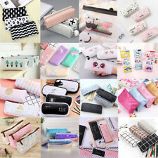 New Pencil Case Pen Pouch Box Bag Cases School Office Supplies Stationery Gift