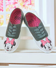 Women's Disney Minnie Mouse Lace Up Canvas Sneakers Shoes Casual Footwear Size 8