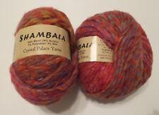 Crystal Palace SHAMBALA Bulky Variegated Self Striping Wool Blend + Silk Yarn
