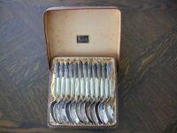 12 WMF Silber Löffel Kaffeelöffel  im Original Karton Karl Risch Dudweiler Saar