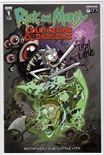 RICK and MORTY DUNGEONS & DRAGONS #1 IDW Troy Little Artist Signed Autograph NM+