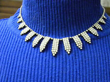 Art Deco Rhinestone Choker Vintage Necklace FABULOUS