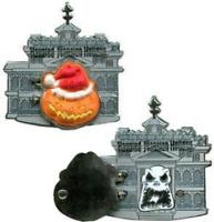 Disney Pin 86309 DLR Haunted Mansion Holiday Logo Hinged Jack Skellington NBC #