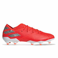 adidas Official Mens Nemeziz 19.1 Firm Ground Football Boots Shoes Red