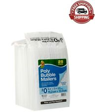 Duck Brand 0 Poly Bubble Mailer White 25 Pk 6 X 9 Durable