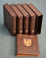 PHILSWISS Ringbinder mit Kassette braun Wappen gebraucht, neuwertig (Z274)