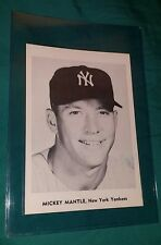 MICKEY MANTLE VINTAGE B&W 5X7 JAY PUBLISHING PHOTO