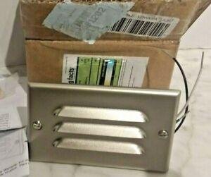"""New Kichler 12600 NI Step and Hall Light 1 Light 5""""W LED Step Lighting - Nickle"""