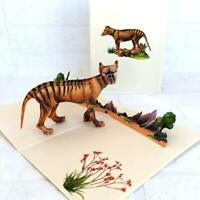 Handmade Australian Tasmanian Tiger 3D Pop Up Card