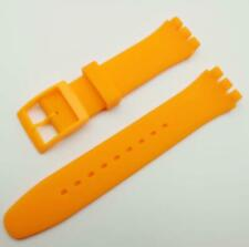 17 19mm Soft Rubber Silicone Non-slip Waterproof Smart Watch Band Strap
