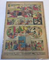 1940 SUPERMAN newspaper cartoon #23 ~ half page on a full page