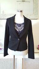 Black Smart Work Occasion Tailor Style Jacket Blazer Size 8 Petite New With tag