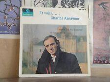 CHARLES AZNAVOUR, ET VOICI - UK COLUMBIA LP 33SX 1634