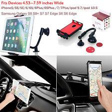 Universal 360°Car Windshield Dashboard Mount Holder Cradle F Phone Tablet PC GPS