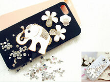 Bling elephant flowers Diy phone case deco den kit crystal rhinestone flatback
