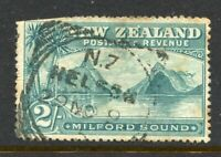 NEW ZEALAND....  1898  2/- milford, london print  used (some trimmed perfs)