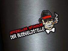 1 x Aufkleber Offizieller Sponsor der Bußgeldstelle Sticker Shocker Dub Fun Gag