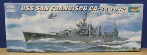 Trumpeter 05746 WW2 USS San Francisco CA-38 1942 1:700 Kit New Sealed