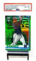 2019 Topps Chrome GREEN REFRACTOR Marlins HAROLD RAMIREZ Rookie Card PSA 10 Pop2