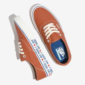 Vans Authentic Ultracush Salt Wash Potter's Clay Men's Skate Shoes Size 9.5 New!
