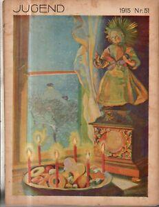 1915 Jugend December 17 German Art Nouveau Kalpokas, Vollbehr, Schuch, Fledler