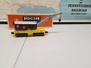 lionel operating 6 axle crane car #6-6524