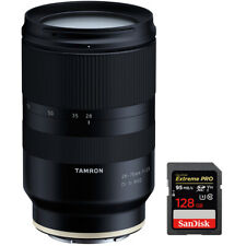 Tamron 28-75mm F/2.8 Di III RXD Full Frame E-mount Lens for Sony + 128GB Card