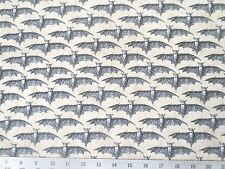 All Hallows Eve With Ecru Bats Blank Cotton Fabric