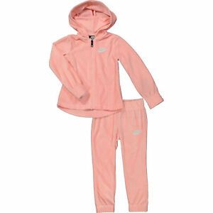 NIKE Girl's  2Pcs Velour Tracksuit Set (Hoodie Jacket+Joggers): 2, 3,4,5,6,7 Yrs