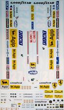 1/8 FERRARI 126C2 DECAL for PROMOCOM VILLENEUVE PIRONI ANDRETTI EIDAI GRIP ENTEX
