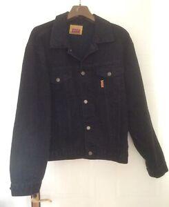 Vintage / Retro Castlemaine XXXX Black Denim Jacket. Size L. 1980's.
