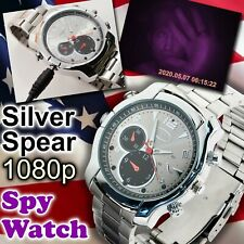 2019 Spy Watch Silver Spear 32GB Infrared Night Vision 1080p Camera Video IR LED