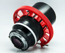 Cinematics follow focus gear ring 0.8 mods for Sigma 18-35mm f1.8 70-80mm red