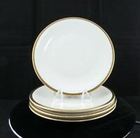 "EDELSTEIN BAVARIA GEOMETRIC BLACK AND GOLD TRIM 4 PIECE 7 3/4"" SALAD PLATES"