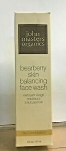 John Masters Organics Bearberry Skin Balancing Face Wash Oily/Combo Skin 6oz New