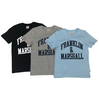 Franklin and Marshall Designer Boys T-Shirt Black, Grey or Blue Ages 7Y - 15Y