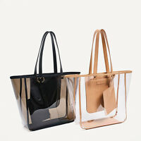 Womens Shoulder Bags Transparent Handbag Tote Clear With Small Purse Beach Bag