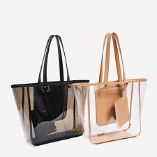 Womens Shoulder Bags Transparent Handbag Tote Clear With Small Purse Beach Bag