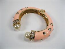 Cuff bracelet pearl Amrita Singh Crystal Hinged