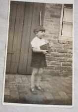 Photo: Child holding a Box Camera - Vintage 1910-1920 Original
